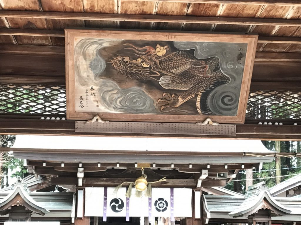 Dragon painting in a shrine in Shigaraki, Kyoto