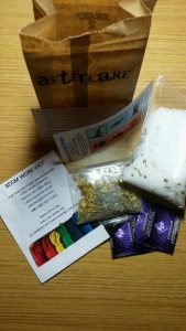One of the aftercare kits created at the program