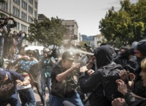 Protests broke out in Berkeley, Ca on April 15, 2017 (Credit: It's Going Down).