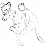 Sketches of the two cubs from observation.