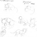 Gesture drawings of the cubs from week 3.