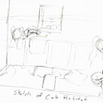 Sketch of the cub den before it got reorganized.