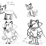 Two pure animal designs and two more of my villain, all stylized in various ways.