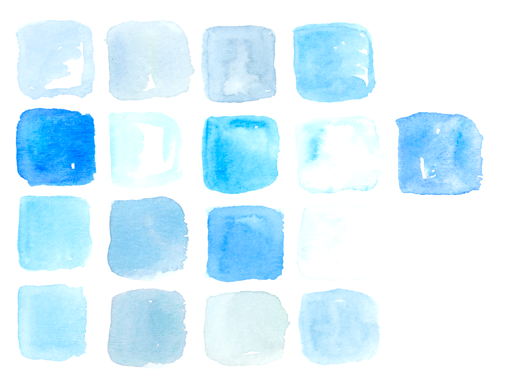 watercolor patches of blue