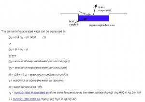 Evaporated water per second