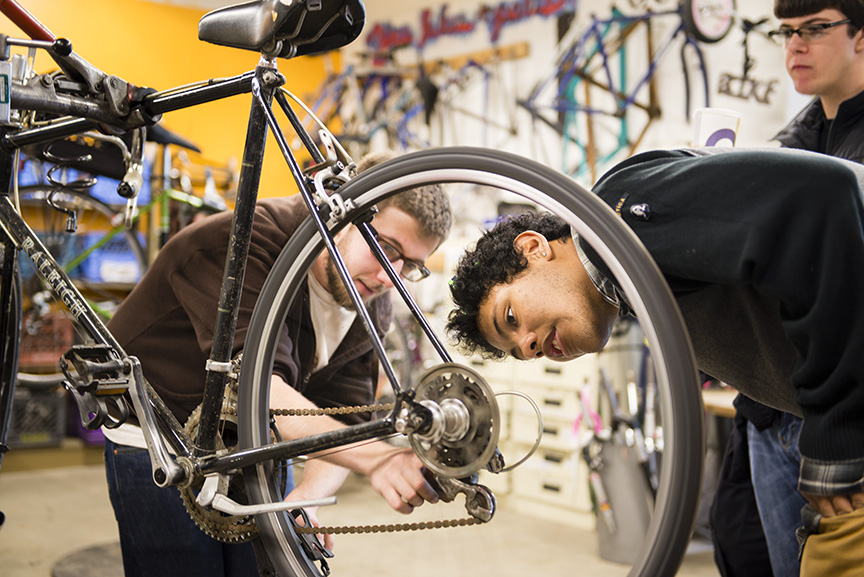 Spring in the bike shop | The Evergreen Mind