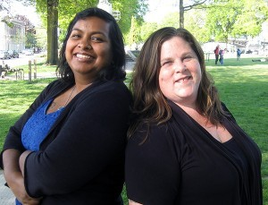 Nancy Haque '96 (left) and Jeana Frazzini (right). Photo Credit: LGBT Weekly