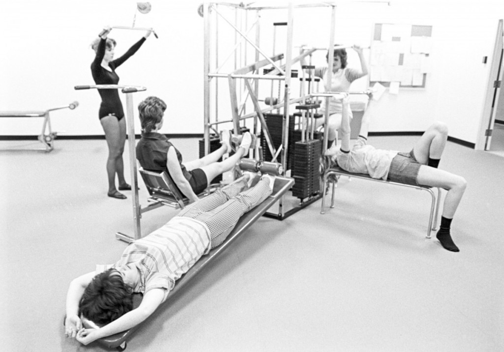Students in the gym. 1974.