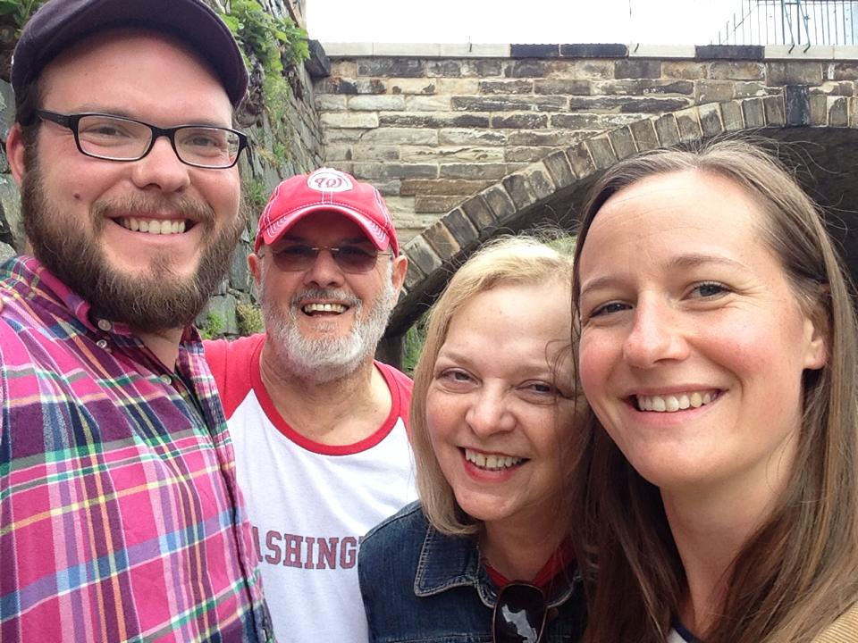2014 Georgetown, DC - From left; Adam, Gerson, Margery Sher, and Adam's wife Megan Sher.