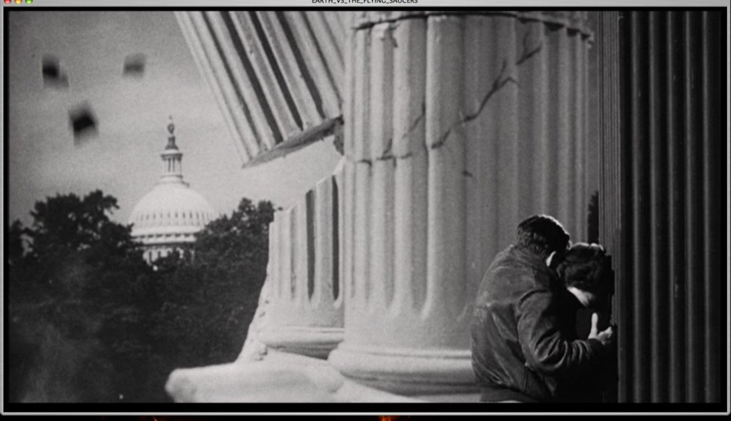 film still from earth versus flying saucer