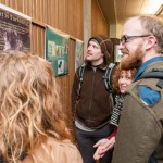 Students from The program Nisqually River: From Mountain Goats to Geoducks with faculty Jeff Antonelis-Lapp hung posters they created in the Library Lobby.