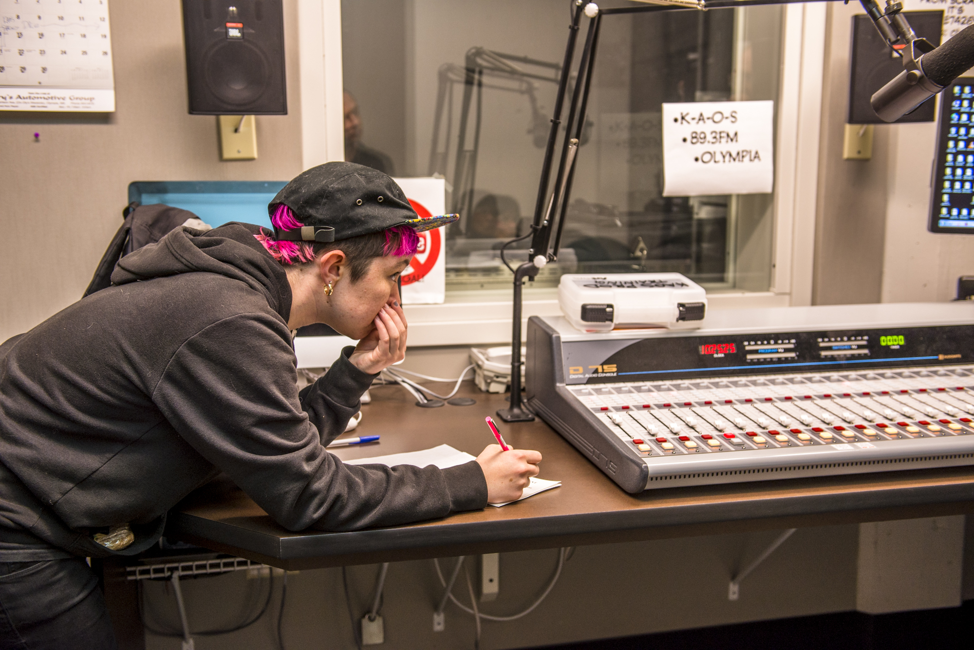 KAOS offers a free radio training program open to all students and members of the community.  -- Dani Winder photo
