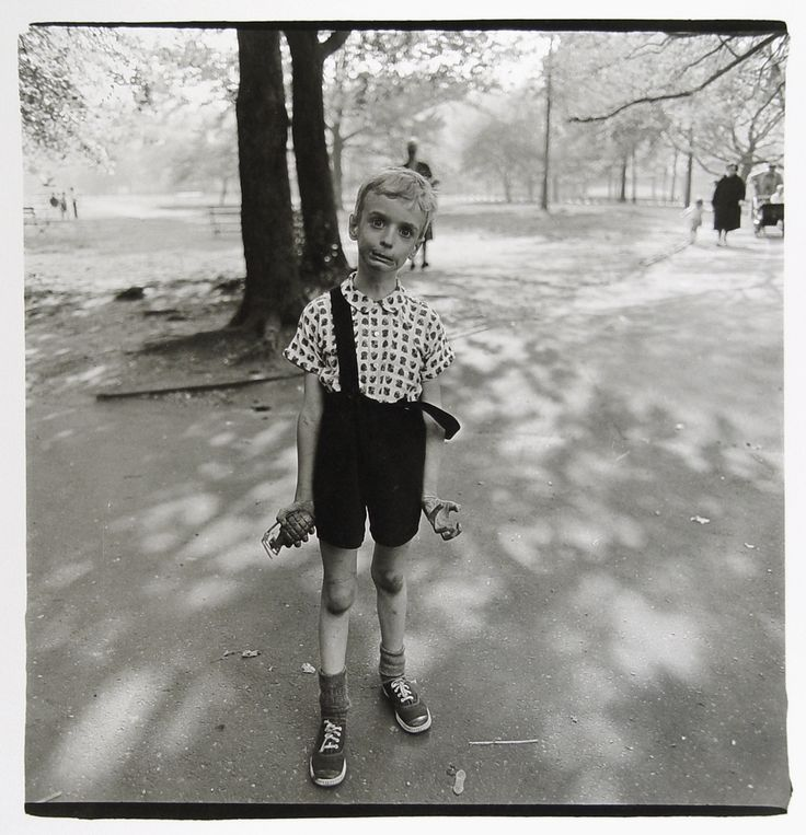'Child with Toy Hand Grenade in Central Park', by Diane Arbus - part of Evergreen's collection